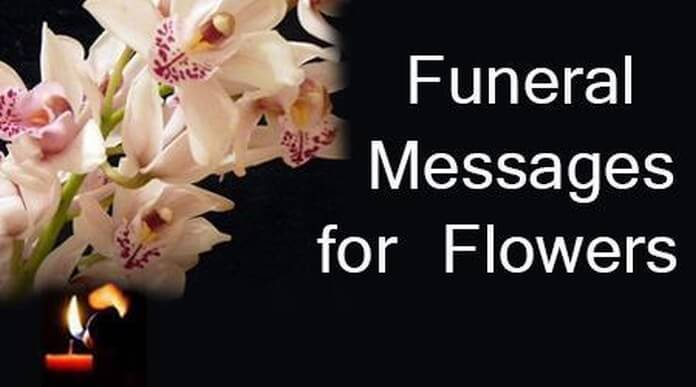 Funeral Messages for Flowers