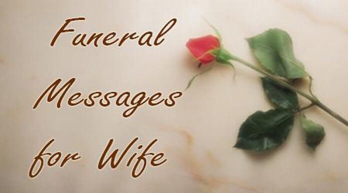 Wife Funeral Messages
