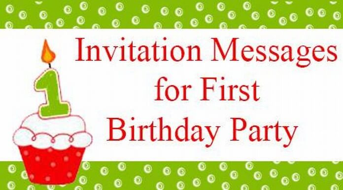 Invitationmessagesfirstbirthdaypartyjpg - Birthday invitation letter to a friend in english