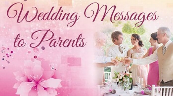 Wedding Message to Parents