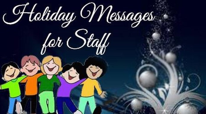 Holiday Messages for Staff