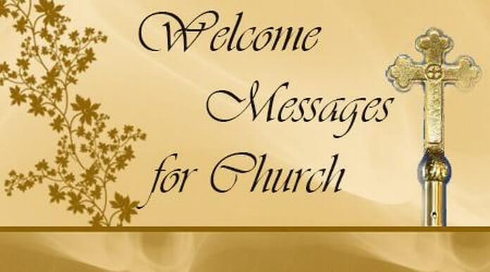 Welcome Messages for Church