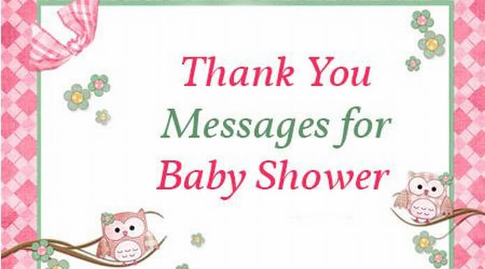 Thank you Messages for Baby Shower