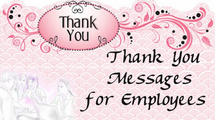 Thank You Message for Employees