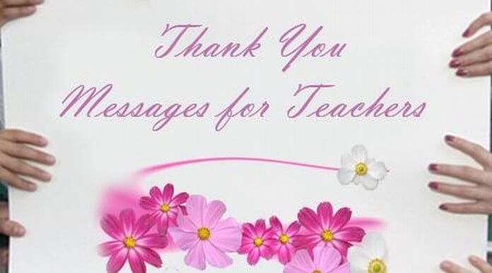 Thank you Messages for Teacher