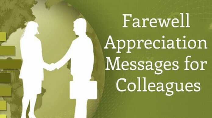 Farewell Appreciation Messages for Colleagues