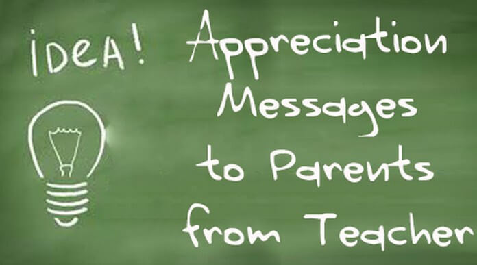 Appreciation Messages to Parents from Teacher