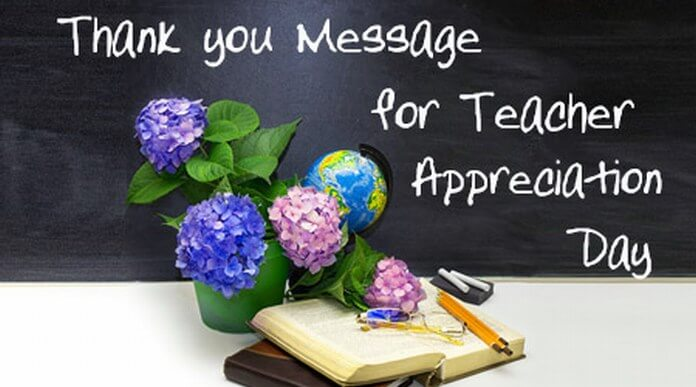 Thank you Message for Teacher Appreciation Day