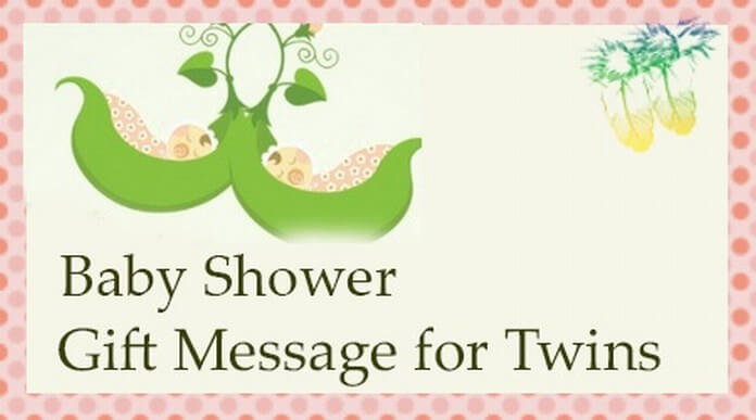 baby shower gift message for twins