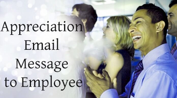 Sweet Appreciation Email Message to Employee