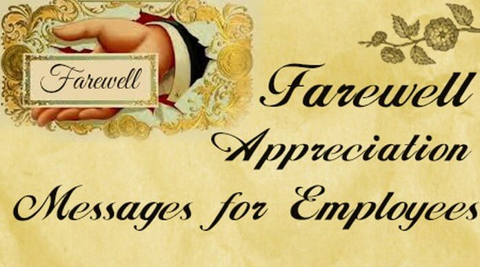 Employees farewell appreciation messageg farewell appreciation employees messages spiritdancerdesigns Choice Image