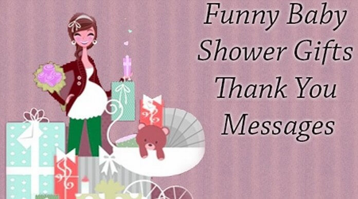 funny baby shower gifts thank you messages best message