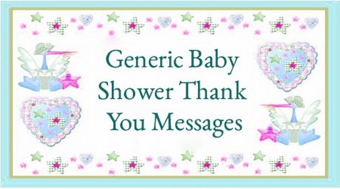 generic baby shower thank you messages