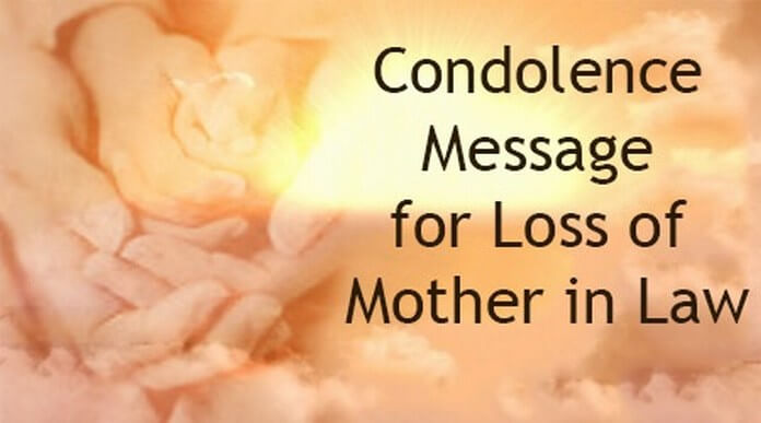 Condolence Message For Loss Of Mother In Law