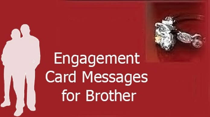 Engagement Card Messages for Brother