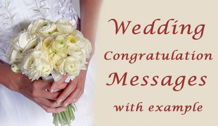 Sample Wedding Messages Best Wishes Marriage Congratulations
