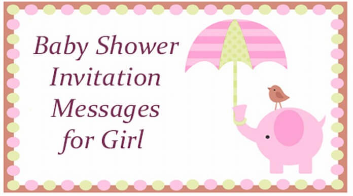 cute Baby Shower Invitation Messages for Girl