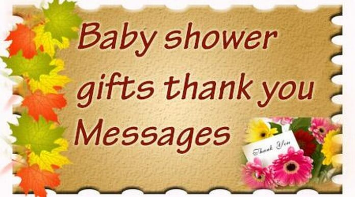 Baby Shower Gifts Thank You Messages