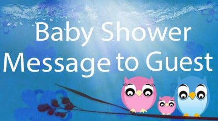 Baby Shower Messages to Guest