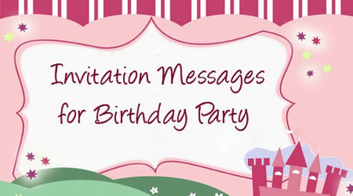 surprise birthday party invitation messages