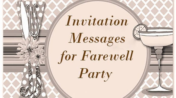 farewell party invitation messages - Goodbye Party Invitation