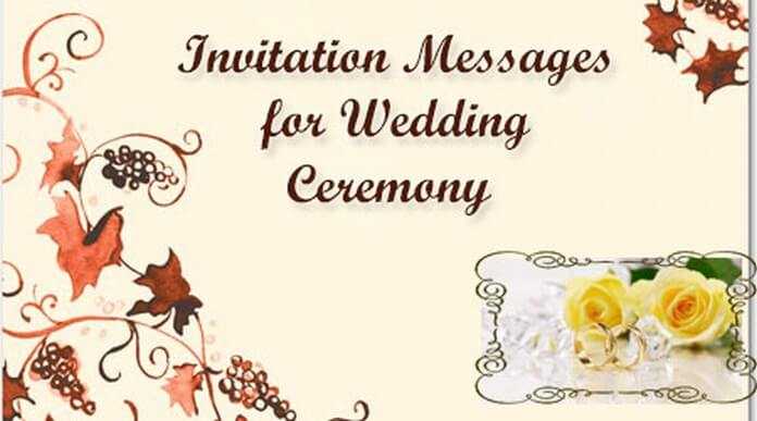 Sweet Invitation Messages for Wedding Ceremony