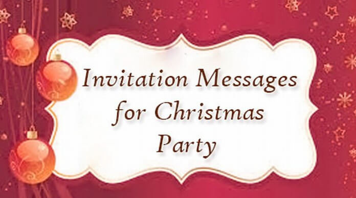 Christmas Party Invitation text Messages