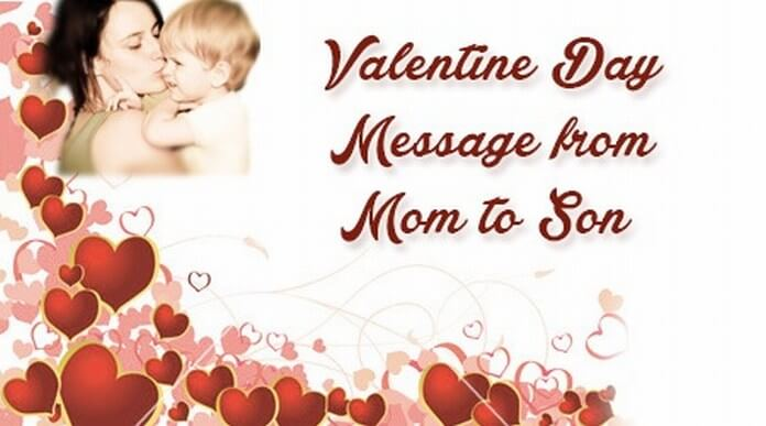 Valentine Day Message from Mom to Son
