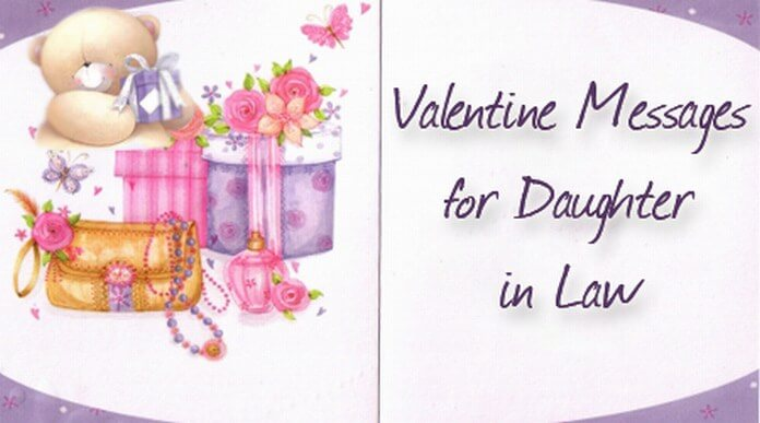 Valentine Messages For Daughter In Law