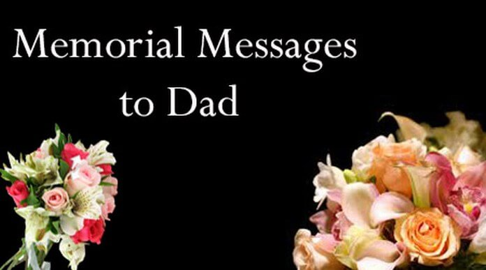 Memorial text Messages to Dad