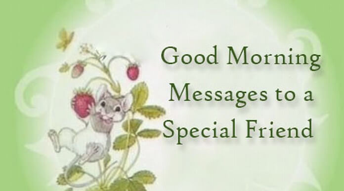 Good Morning Messages to a Special Friend