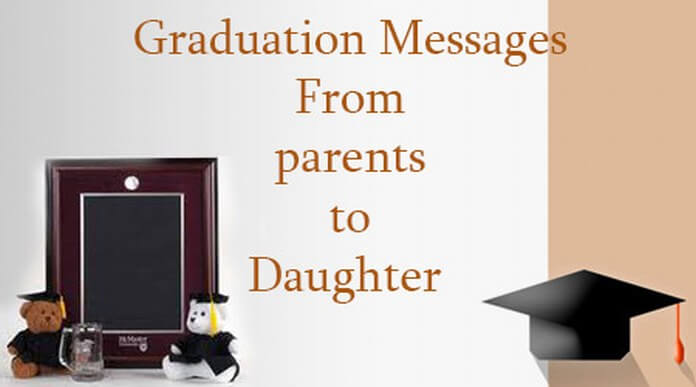 Graduation Message from Parents to Daughter