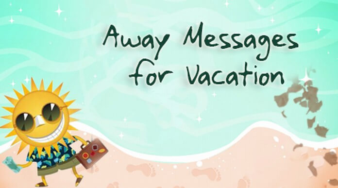 vacation away messages sample