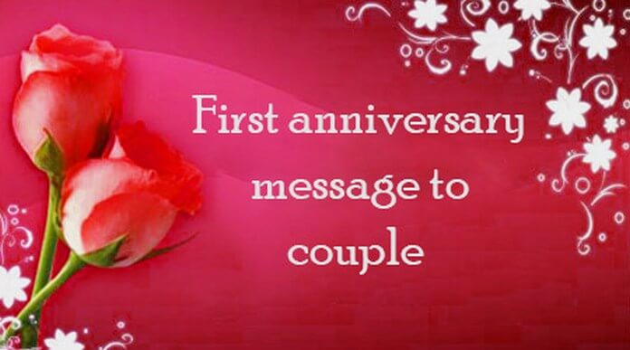 First Anniversary Message to Couple
