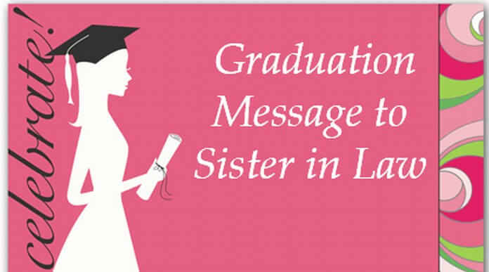 Graduation Message to Sister in Law