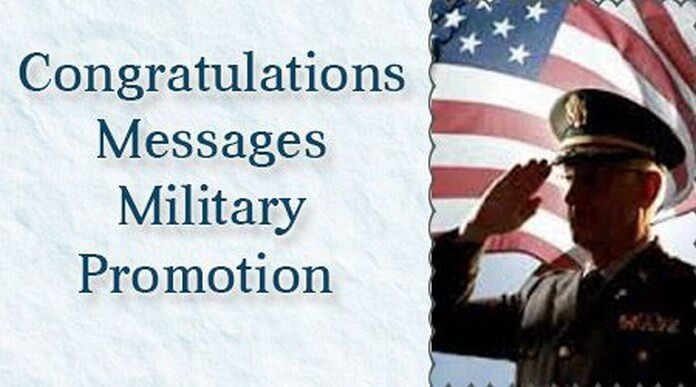 Congratulations Messages Military Promotion