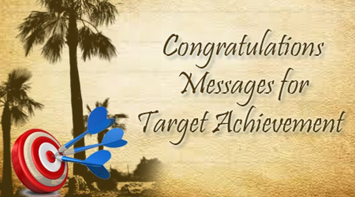 Congratulations Messages for Target Achievement