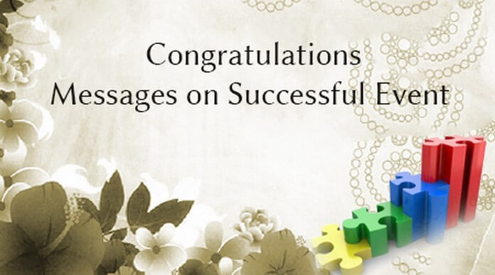 Congratulations Messages on Successful Event