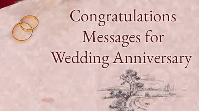 Congratulations Messages for Wedding Anniversary