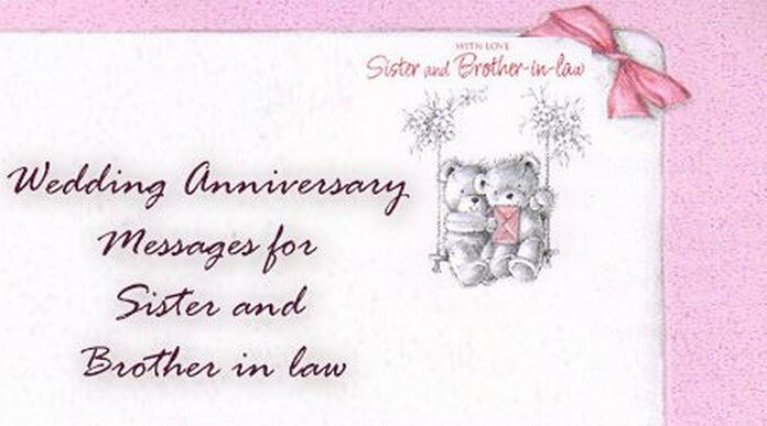Wedding Anniversary Gift For Brother In Law : Wedding Anniversary Messages for Sister and Brother in law