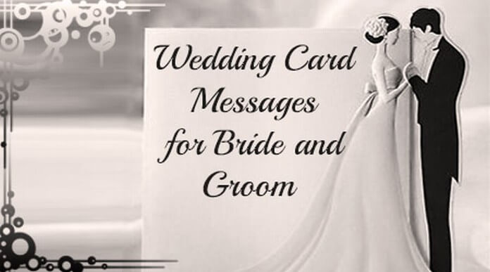 Wedding Card Messages To Bride And Groom wedding card messages for ...