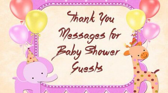 Thank You Messages for Baby Shower Guests