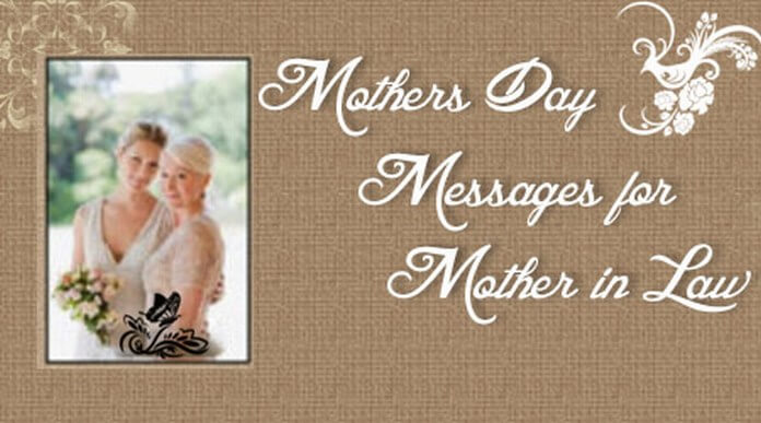 Happy Mother's day messages for Mother in law