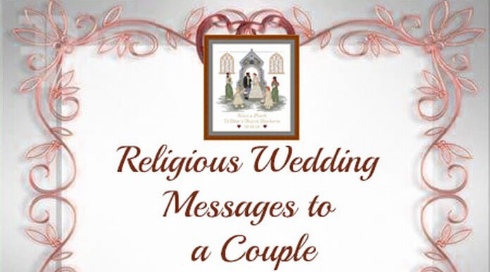 religious wedding messages to a couple
