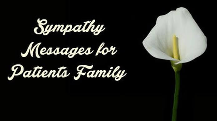 Sympathy Messages for Patient's Family