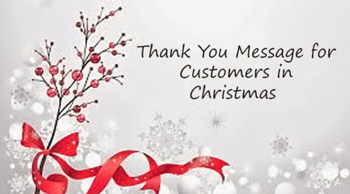 Thank You Message for Customers in Christmas