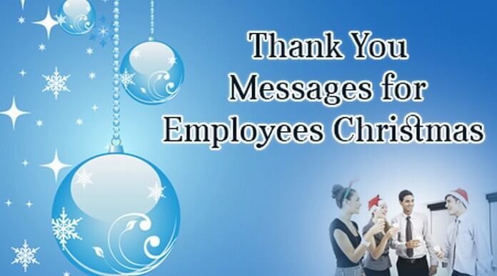 Thank You Messages for Employees Christmas