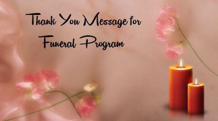 Thank You Message for Funeral Program