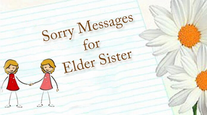 Sorry messages for elder sister