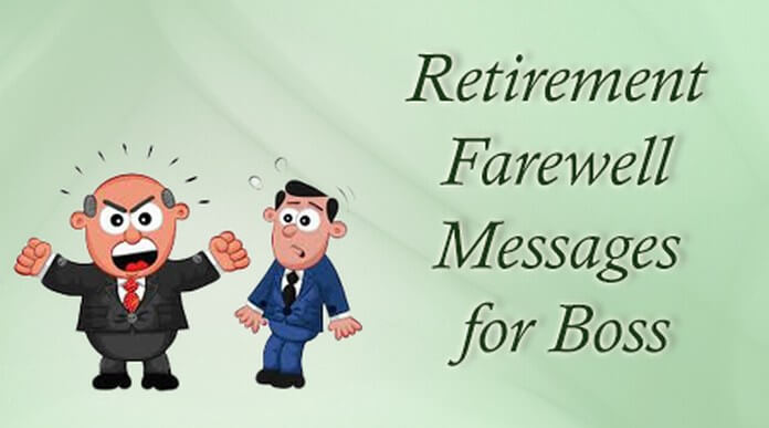 retirement farewell message boss